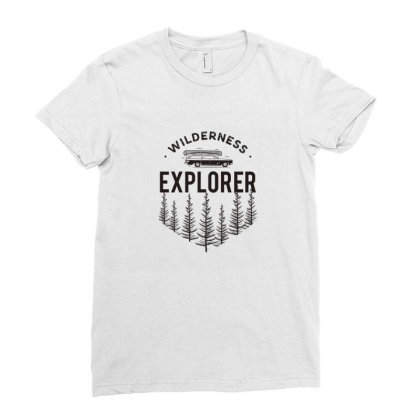 Explorer Ladies Fitted T-shirt Designed By Disgus_thing