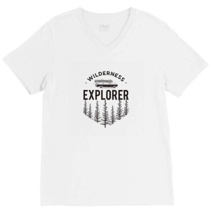 Explorer V-neck Tee Designed By Disgus_thing