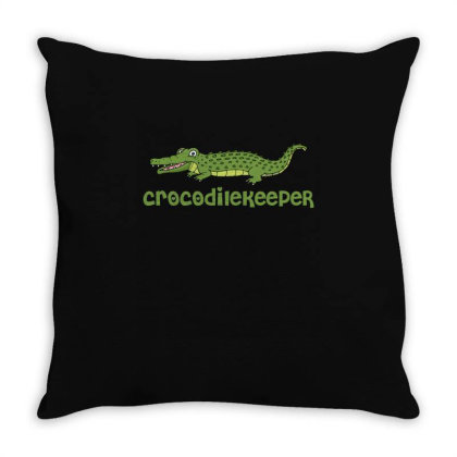 Crocodilekeeper Funny Crocodile Keeper T Shirt Throw Pillow Designed By Gnuh79
