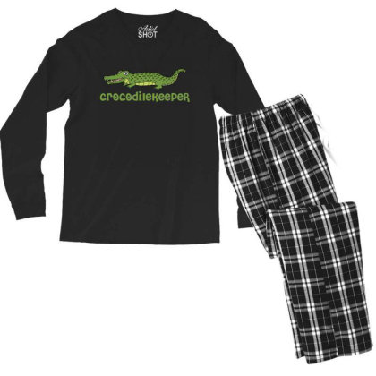 Crocodilekeeper Funny Crocodile Keeper T Shirt Men's Long Sleeve Pajama Set Designed By Gnuh79