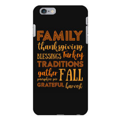 family thanksgiving blessings turkey t shirt iPhone 6 Plus/6s Plus Case | Artistshot