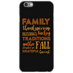 family thanksgiving blessings turkey t shirt iPhone 6/6s Case | Artistshot