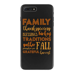 family thanksgiving blessings turkey t shirt iPhone 7 Plus Case | Artistshot