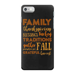 family thanksgiving blessings turkey t shirt iPhone 7 Case | Artistshot