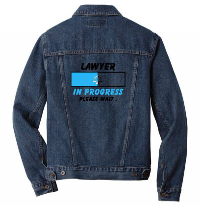 Lawyer In Progress For Light Men Denim Jacket Designed By Sengul