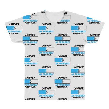 Lawyer In Progress For Light All Over Men's T-shirt Designed By Sengul