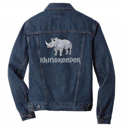 Rhinokeeper Funny Rhino Keeper T Shirt Men Denim Jacket Designed By Gnuh79