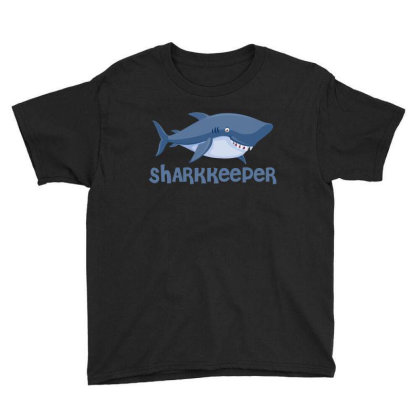 Sharkkeeper Funny Shark Keeper T Shirt Youth Tee Designed By Gnuh79