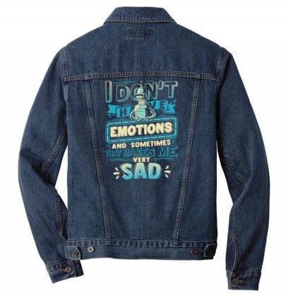 No Emotions Men Denim Jacket Designed By Kakashop