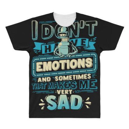 No Emotions All Over Men's T-shirt Designed By Kakashop