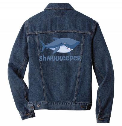 Sharkkeeper Funny Shark Keeper T Shirt Men Denim Jacket Designed By Gnuh79