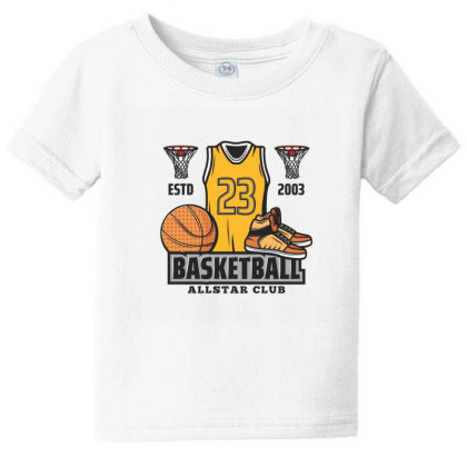 Basketball Baby Tee Designed By Disgus_thing
