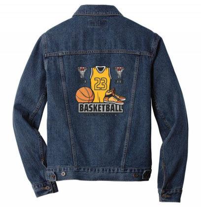 Basketball Men Denim Jacket Designed By Disgus_thing