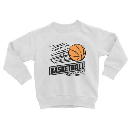 Basketball Toddler Sweatshirt Designed By Disgus_thing