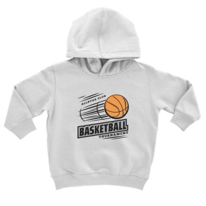Basketball Toddler Hoodie Designed By Disgus_thing