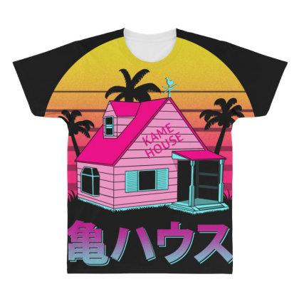 Retro Kame House All Over Men's T-shirt Designed By Ddjvigo