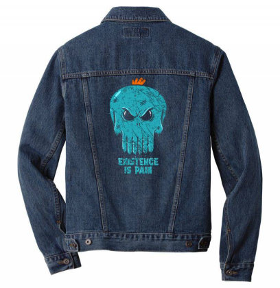 Existence Is Pain Men Denim Jacket Designed By Kakashop