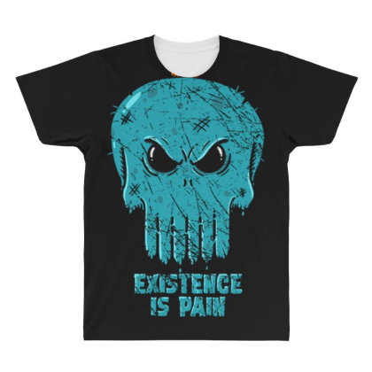 Existence Is Pain All Over Men's T-shirt Designed By Kakashop