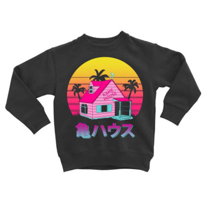 Retro Kame House Toddler Sweatshirt Designed By Ddjvigo