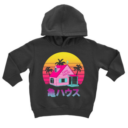 Retro Kame House Toddler Hoodie Designed By Ddjvigo