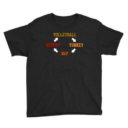 Volleyball Turkey Nap Repeat T Shirt Youth Tee Designed By Gnuh79