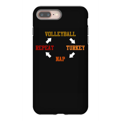 Volleyball Turkey Nap Repeat T Shirt Iphone 8 Plus Case Designed By Gnuh79