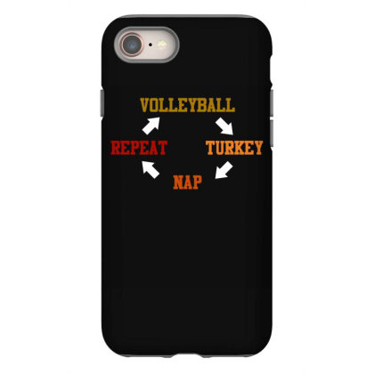 Volleyball Turkey Nap Repeat T Shirt Iphone 8 Case Designed By Gnuh79
