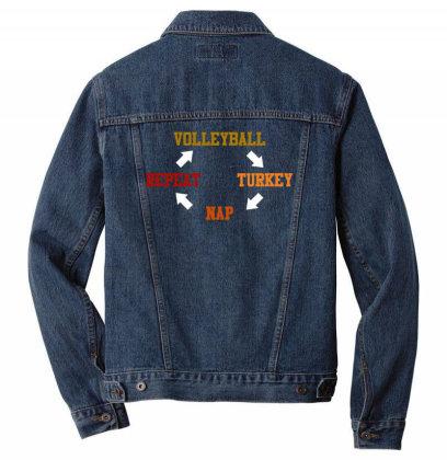 Volleyball Turkey Nap Repeat T Shirt Men Denim Jacket Designed By Gnuh79