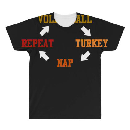 Volleyball Turkey Nap Repeat T Shirt All Over Men's T-shirt Designed By Gnuh79