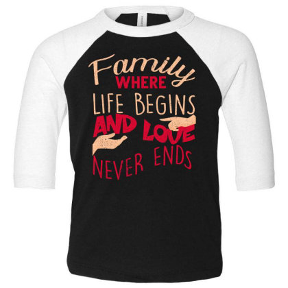 Family Toddler 3/4 Sleeve Tee Designed By Bettercallsaul