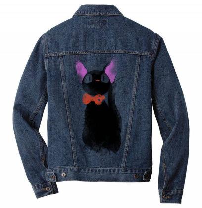 Watercolor Cat Men Denim Jacket Designed By Ddjvigo