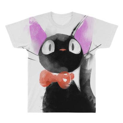 Watercolor Cat All Over Men's T-shirt Designed By Ddjvigo