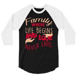 Family 3/4 Sleeve Shirt | Artistshot