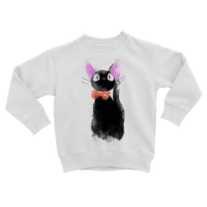 Watercolor Cat Toddler Sweatshirt Designed By Ddjvigo
