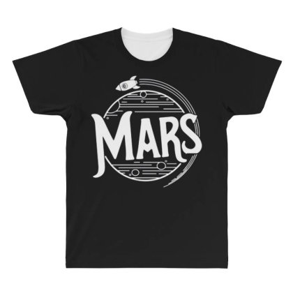 Mars All Over Men's T-shirt Designed By Disgus_thing