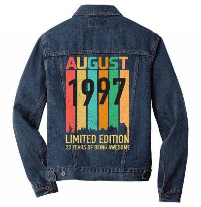 August 1997 23 Years Old 23rd Birthday Men Denim Jacket Designed By Bettercallsaul