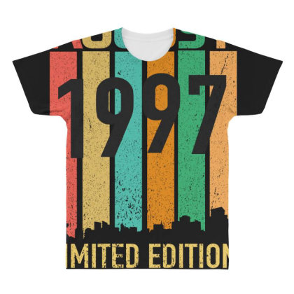 August 1997 23 Years Old 23rd Birthday All Over Men's T-shirt Designed By Bettercallsaul