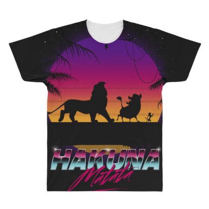 Retro Matata All Over Men's T-shirt Designed By Ddjvigo