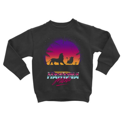 Retro Matata Toddler Sweatshirt Designed By Ddjvigo