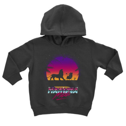 Retro Matata Toddler Hoodie Designed By Ddjvigo