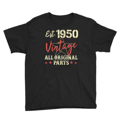 Est.1950 Vintage All Original Parts Youth Tee Designed By Badaudesign