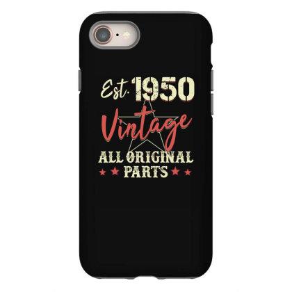 Est.1950 Vintage All Original Parts Iphone 8 Case Designed By Badaudesign