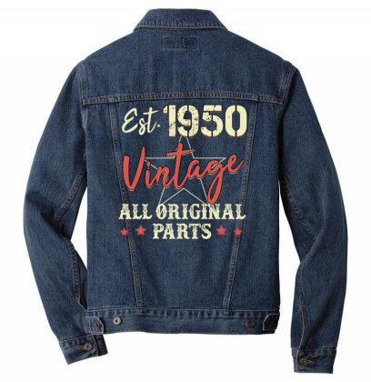 Est.1950 Vintage All Original Parts Men Denim Jacket Designed By Badaudesign