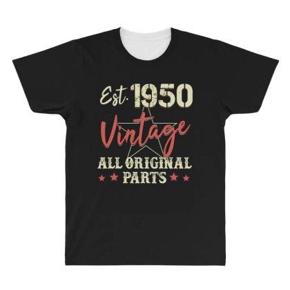 Est.1950 Vintage All Original Parts All Over Men's T-shirt Designed By Badaudesign