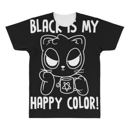 Black Is My Happy Color All Over Men's T-shirt Designed By Kakashop