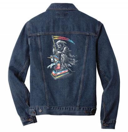 Death Enjoying Life Men Denim Jacket Designed By Kakashop
