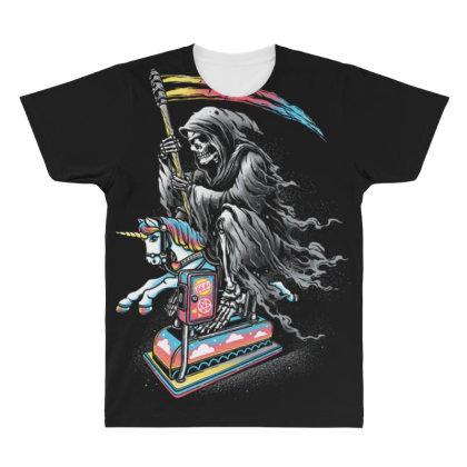Death Enjoying Life All Over Men's T-shirt Designed By Kakashop