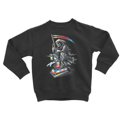 Death Enjoying Life Toddler Sweatshirt Designed By Kakashop