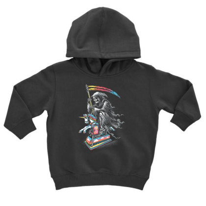 Death Enjoying Life Toddler Hoodie Designed By Kakashop