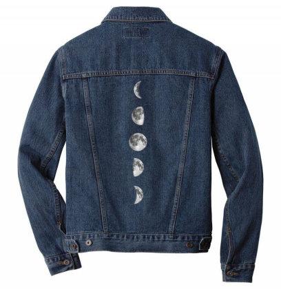 Bohemian Moon Phase Men Denim Jacket Designed By Gunit